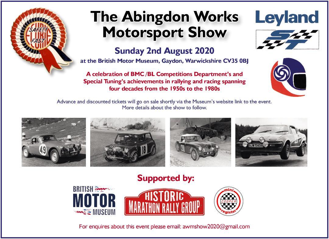 Abingdon Works Motorsport Show